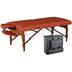 "Master Massage 31"" Santana LX Portable Massage Table Package, Memory Foam Reiki Mountain Red"