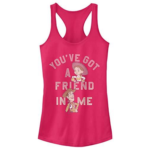 Toy Story Juniors' Jessie Friend in Me Dark Pink Racerback Tank Top