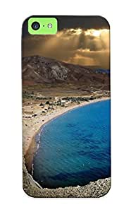 Case For Iphone 5c Tpu Phone Case Cover(dark Beach) For Thanksgiving Day's Gift