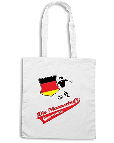 T-Shirtshock - Bolsa para la compra WC0058 GERMANIA GERMANY DEUTSCHLAND Blanco