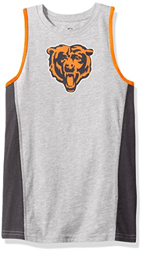 Outerstuff NFL Chicago Bears Youth 8-20 Fan Gear Tank Top, Large (14-16), Heather Grey