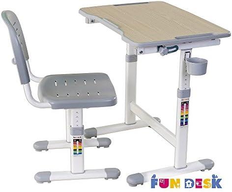 FD FUN DESK SST2 Grey-Sedia da scrivania per bambini colore: Grigio regolabile in altezza 380x360x612~732 mm
