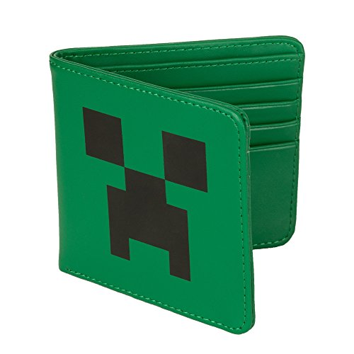 Minecraft Creeper Face Leather Wallet product image
