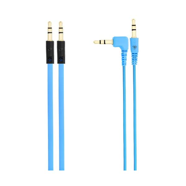 Chromo Inc® 2x Pack 3.5mm Auxiliary Cable 1 Angled And 1 Flat Audio Music Aux
