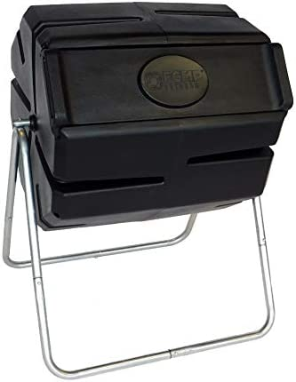 FCMP Outdoor Roto Tumbling Composter, Black