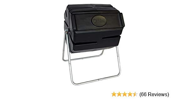 FCMP Outdoor Roto Tumbling Composter Black Renewed