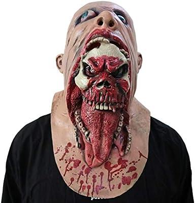 TONKOW Máscara de Disfraces de Halloween, máscara de Zombie ...