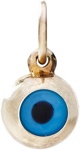 Helen Ficalora Evil Eye Mini Charm Yellow Gold