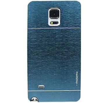 YULIN estuche rígido estilo de metal motomo para Samsung Galaxy Note 4 (colores surtidos) , Light Blue: Amazon.es: Electrónica