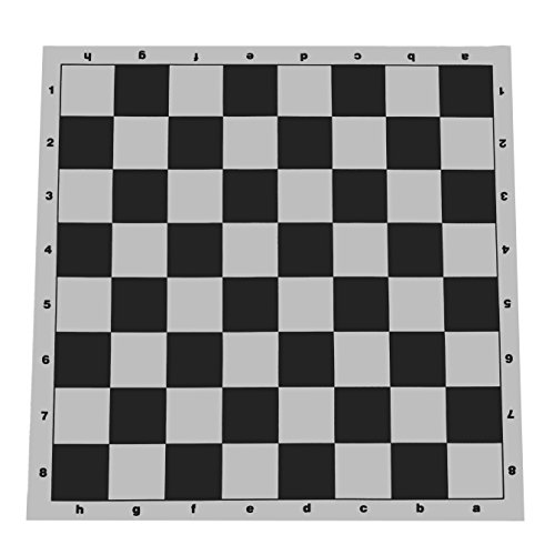 (WE Games Tournament Roll Up Vinyl Chess Board- 20 in. Black and White)