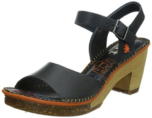 Open Strap Toe Sandals Ankle Art Women's Amsterdam Black Black Xq4wUBUR