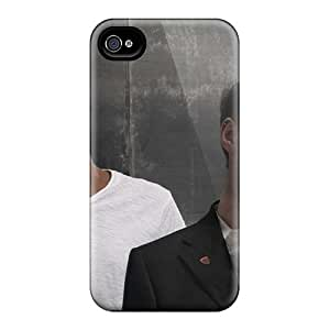 Anti-Scratch Cell-phone Hard Covers For Iphone 4/4s (QOf8250PawF) Customized Attractive Massive Attack Band Skin