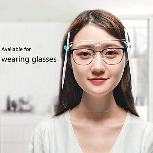 para pl/ástico transparente para la cara resistente para prevenir la saliva Gafas protectoras de una pieza vapores de aceite protecci/ón de seguridad para toda la cara Pantalla facial de seguridad