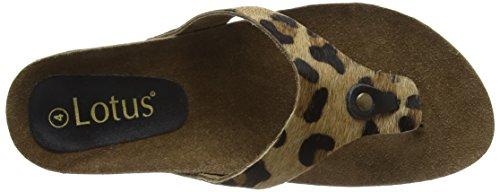 Leopard Sandales Brown Pony Femme Marron Compensées Lotus Rafaella Xp5HqwYY