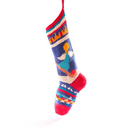 ChunkiChilli Ski Angels Organic Cotton Christmas Stocking]()