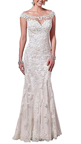 Trumpet/Mermaid Strapless Chapel Train Lace Wedding Dress (White) - 5