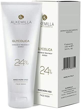 ALKEMILLA - Glycolica Face Mask 24% - Counteracts the signs of skin aging - Suitable for mature skin - Ideal for age spots - Vegan & nickel tested - 100 ml