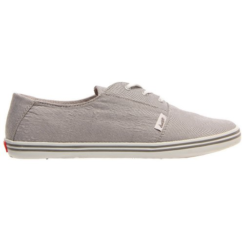 9 DVS Shoes Gray Casual Canvas Pinstripe Womens Sz Benny P8xPfr4Uq