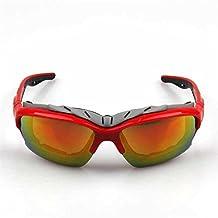 Little Cherry UV Protect Biking Fishing Running Driving Golf Glasses Sport Goggles (Red)