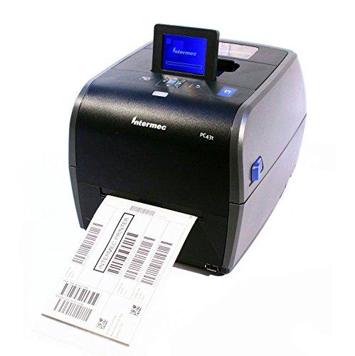 (Intermec PC43T Thermal Desktop Label Printer LCD Display W/ Real Time Clock USB Network 203DPI 128MB, PC43TA0010020)