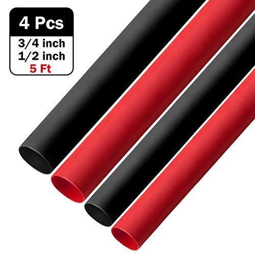 Wire Heat Shrink Tube Polyolefin Marine Heat Shrink Tubing 3:1 Dual Wall Adhesive-Lined Electric Tubes for Cable Wires 3…