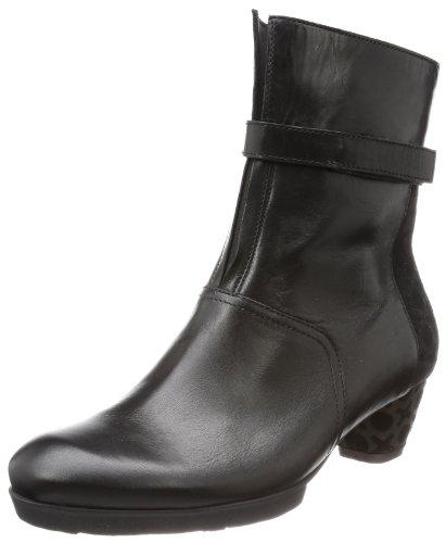 Think Nola - Botas clásicas de cuero mujer negro - Schwarz (sz/kombi 09)