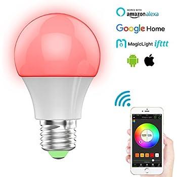 magiclight bluetooth smart light bulb 60w equivalent wake up lights multicolored color. Black Bedroom Furniture Sets. Home Design Ideas