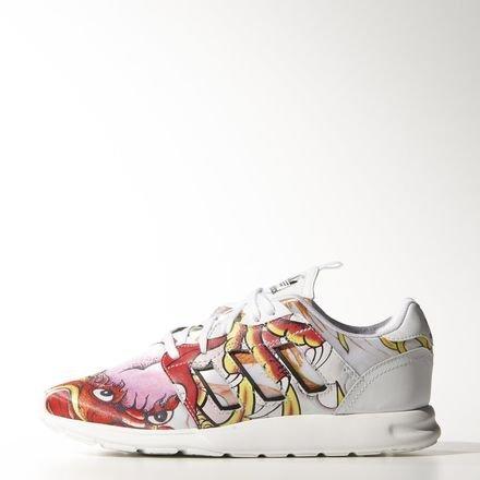 Adidas Originals 2015 Q2 Women ZX 500 2.0 Rita Ora Dragon Fashion Sneaker White B26726 (UK 6.0 US 7.5)