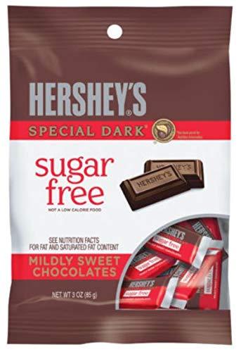 PACK OF 16 - HERSHEY'S Sugar Free SPECIAL DARK Mildly Sweet Chocolate Bars, 3 oz by HERSHEY'S
