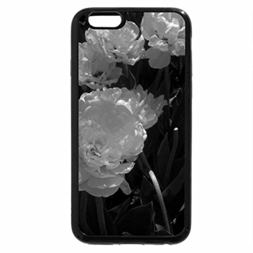 iPhone 6S Plus Case, iPhone 6 Plus Case (Black & White) - double tulips in may