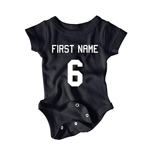 Granite City Graphics Customizable Sports Jersey Baby Onesie (6-Month, ()
