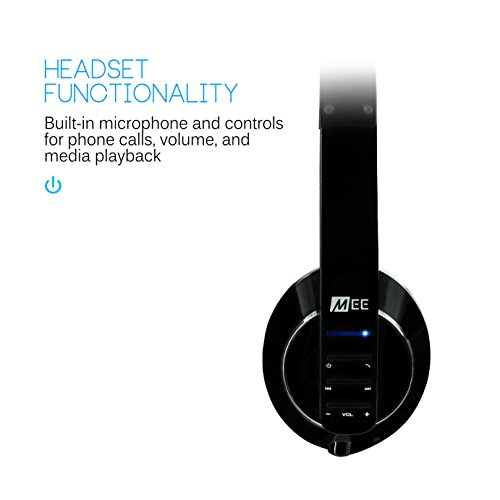 MEE audio Runaway 4.0 Bluetooth Stereo Wireless + Wired Headphones with Microphone (Black) by MEE audio (Image #3)