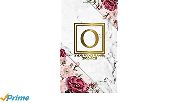 O: Initial Monogram Letter O 2020-2021 Two-Year Monthly ...