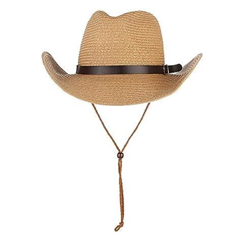 6014d89d Amazon.com : ALWLj Trendy Wide Brim Straw Hats For Kids Baby Sun Hat Cowboy  Cowgirls Caps Beach Jazz Cap Children Summer Hat : Sports & Outdoors