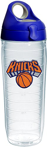 Tervis 1231062 NBA New York Knicks Primary Logo Tumbler with Emblem and Blue with Gray Lid 24oz Water Bottle, Clear by Tervis