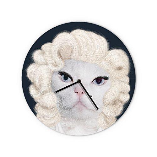 - Empire Art Direct Empire Art Diamond Tempered Glass Wall Clock Reverse Printed Pets Rock Décor, 16