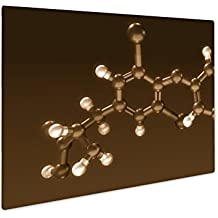 Ashley Giclee Thyroxine Hormone Structure, Wall Art Photo Print On Metal Panel, Sepia, 8x10, Floating Frame, AG6071074