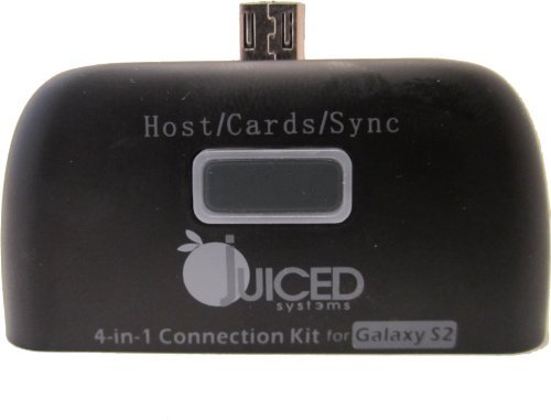 Juiced System's Multi-functional 4 in 1 Adapter : USB /SD Card/Micro SD/Micro USB Inputs