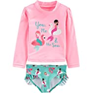 Simple Joys by Carter's Baby and Toddler Girls' 2-Piece Rashguard Set