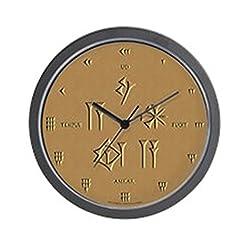 CafePress - Time Flies (Sumerian/Latin) Wall Clock - Unique Decorative 10 Wall Clock