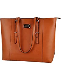 Laptop Tote,Women 15.6 in PU Leather Professional Laptop Bag with Comfortable Adjustable Straps Wonderful