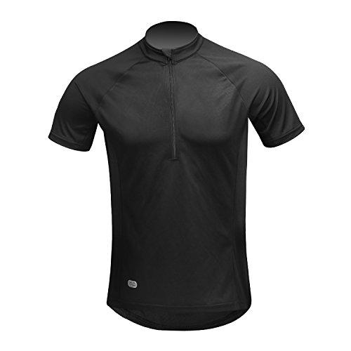 Inbike Cycling Jersey Men, Short Sleeve Shirt Bike Accessories Running Tops Bike Biking Shirt Black ()
