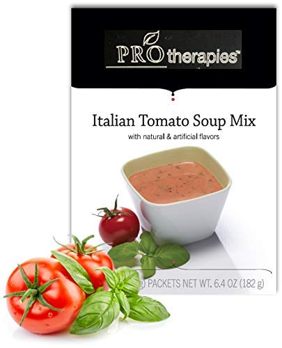 High Protein Soup - Low Carb Tomato Soup Diet Soup Mix (15g Protein) - 7 Servings/Pack