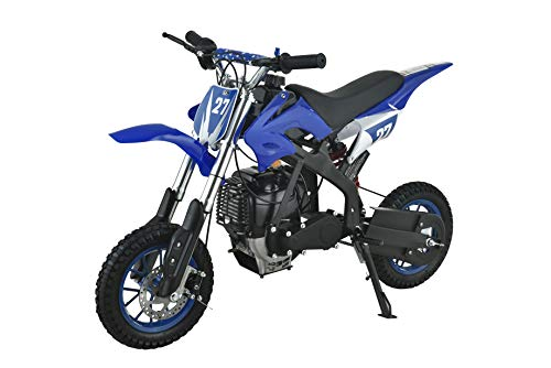 Se7en 40CC 2-Stroke Gas Powered Scooter Mini Dirt Bike,Pit Bike Dirt Off Road Motorcycle (Blue)