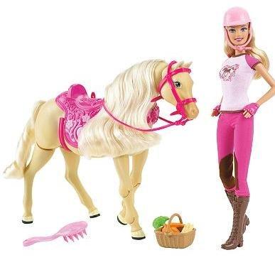 Mattel Barbie® Tawny Walking Horse & Doll Set