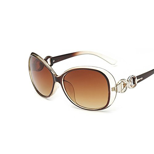 Buildent(TM) Summer Vintage Sunglasses Women Brand Designer Sun Glasses For Women Lunette De Soleil Round Glasses Metal Frame Sunglasses [ Brown - Sunglasses Lunettes