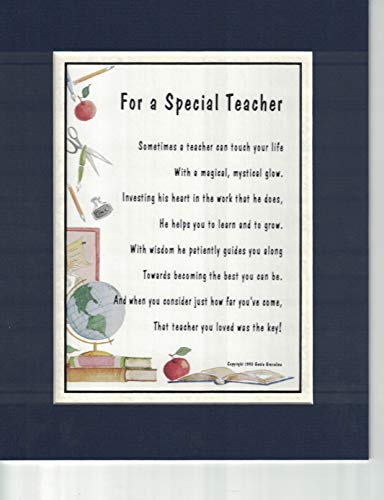 A Thank-You Gift Present Poem for A Special Teacher, 171, (Male)