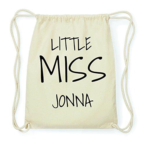 JOllify JONNA Hipster Turnbeutel Tasche Rucksack aus Baumwolle - Farbe: natur Design: Little Miss