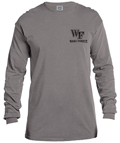 NCAA Wake Forest Demon Deacons Vintage Poster Long Sleeve Comfort Color Tee, Small,Grey
