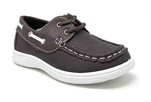 (coXist Boy's Suede PU Boat Shoe (Big Kid/Little Kid/Toddler) in Brown Size: 7 Toddler)